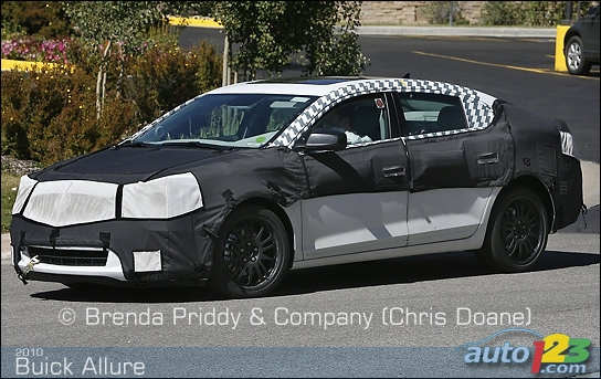 Buick Enclave 2010. 2010 Buick Allure spied!