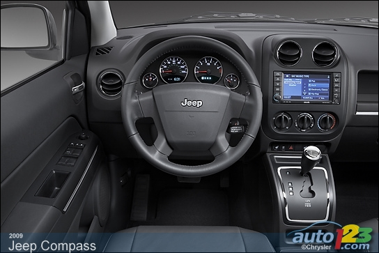 Jeep jazzes up the Compass's interior