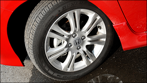 The Fit Sport rides on 16-inch alloy wheels.