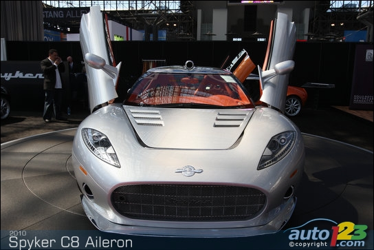 Spyker shows off C8 Aileron to New York