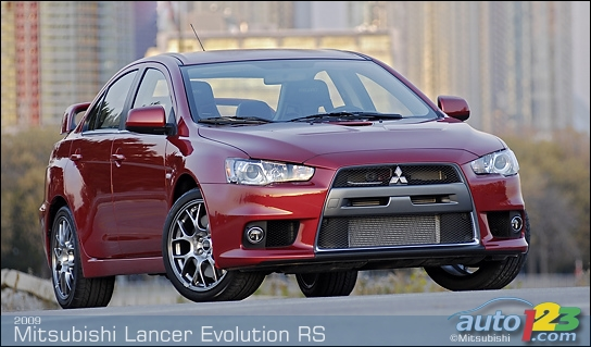 The 2009 Mitsubishi Lancer Evolution RS arrives in Canada