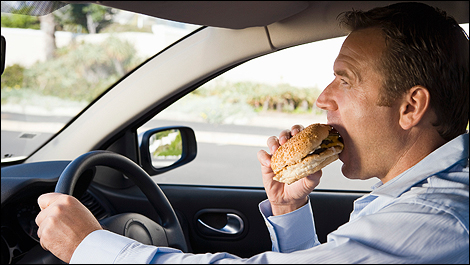 What Is Most Dangerous Food To Eat While Driving