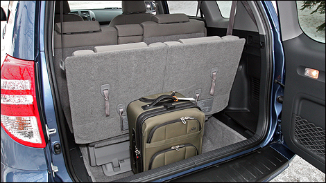 the usually ultra accommodating trunk of the rav4 is partly handicapped by the optional 2. Black Bedroom Furniture Sets. Home Design Ideas