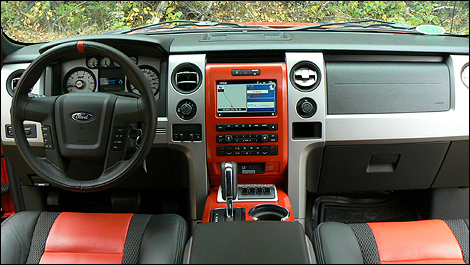 Red Ford Raptor Interior
