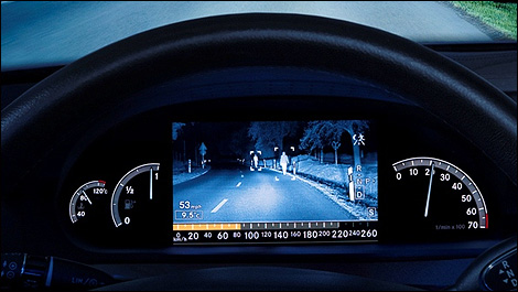 Mercedes s class night vision for Mercedes benz night vision