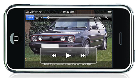 VW Golf GTI iPhone app