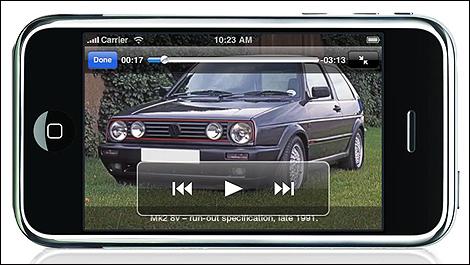 VW Golf GTI iPhone app