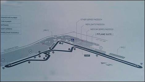 Auto Racing Track  Sale on The New Track Layout