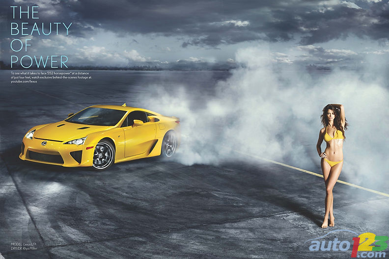 What does a Lexus LFA in Action + Sports Illustrated + Ten Haken in a bikini equal = A winning formula