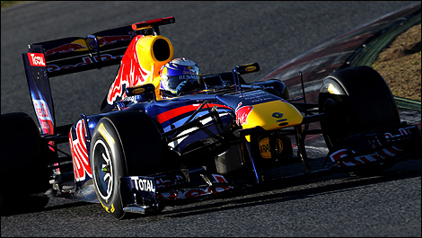 Fastest Auto Racing  on F1  Sebastian Vettel Sets Fastest Lap Around Barcelona Circuit