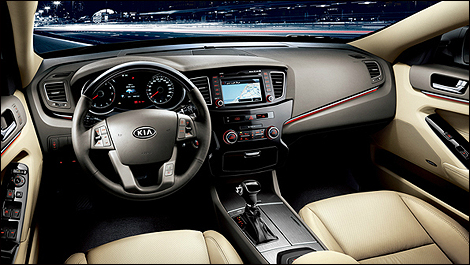 is elegant, if not quite as striking as in the Optima. (Photo: Kia