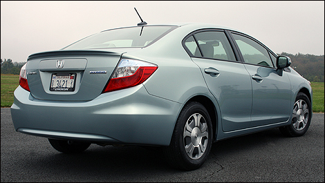 2012 Honda Civic Hybrid rear 3/4 view