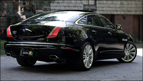 2011 Jaguar XJ Supercharged rear 3/4 view
