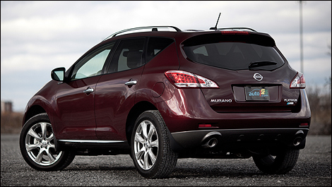 2012 Nissan Murano LE AWD Platinum rear 3/4 view