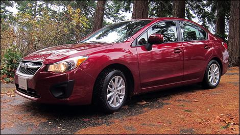 2012 Subaru Impreza front 3/4 view