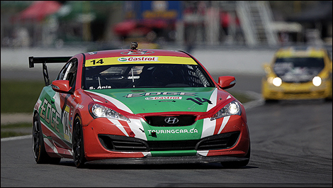 Sasha Anis (Hyundai Genesis) at the NAPA 200 (Photo: Sébastien D'Amour/Auto123.com)