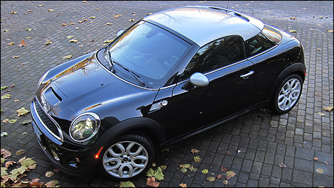 2012 MINI Cooper S Coupé front 3/4 view
