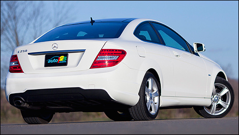 2012 Mercedes-Benz C250 Coupe rear 3/4 view