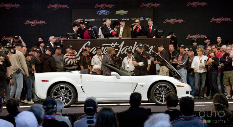 The first 2013 Corvette 427 Convertible sold at auction