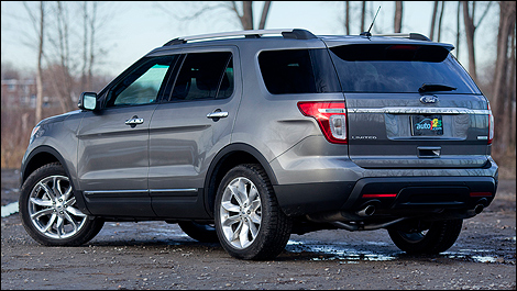 2012 Ford Explorer Limited EcoBoost rear 3/4 view