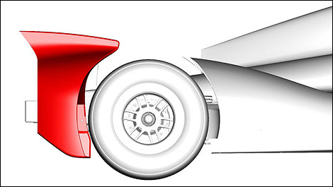 New rear wheel guard IndyCar