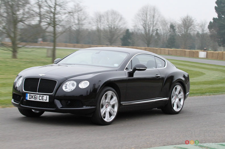 Bentley V8 thunders over Goodwood hills
