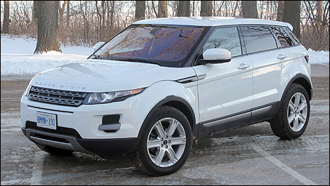 2012 Range Rover Evoque Pure front 3/4 view
