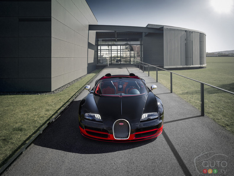 More power under the hood of the Bugatti Veyron 16.4 Grand Sport Vitesse