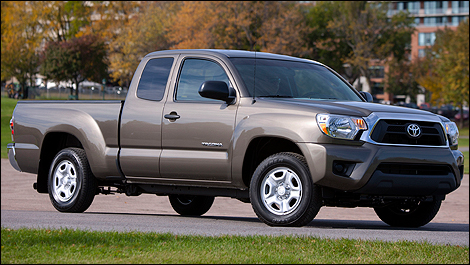 2012 Toyota Tacoma front 3/4 view