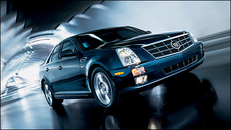 2010 Cadillac STS front 3/4 view