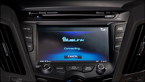 2013 Hyundai Veloster Turbo touch screen