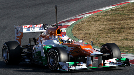 Paul di Resta au volant de sa Sahara Force India, à Barcelone (Photo: WRi2)