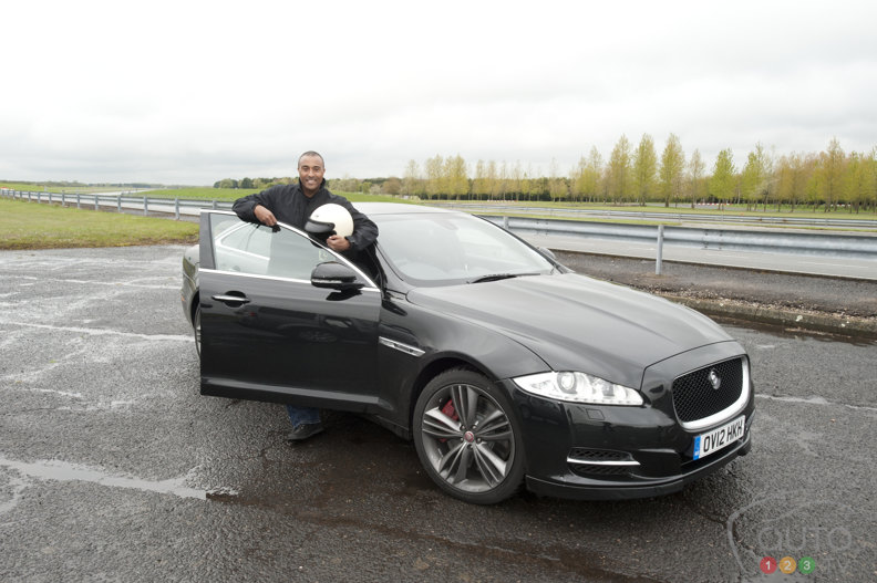 Colin Jackson faster at the wheel of his Jag than... on foot