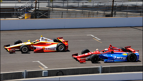 Indy 500 Helio Castroneves Graham Rahal