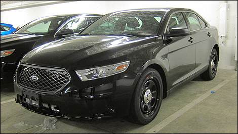 2013 Ford Police Interceptor front 3/4 view