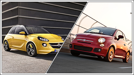 vauxhall adam fiat 500 New Vauxhall ADAM is no small threat to Fiat 500
