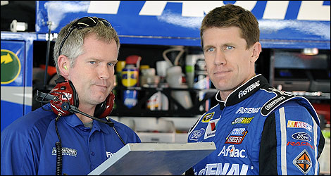 NASCAR Bob Osborne Carl Edwards