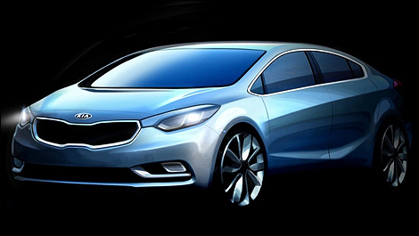 2014 Kia Forte i1 Kia Releases Teaser Pics of the 2014 Forte