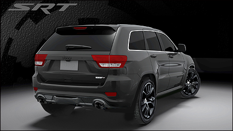 2013 Jeep Grand Cherokee SRT8 3/4 rear view