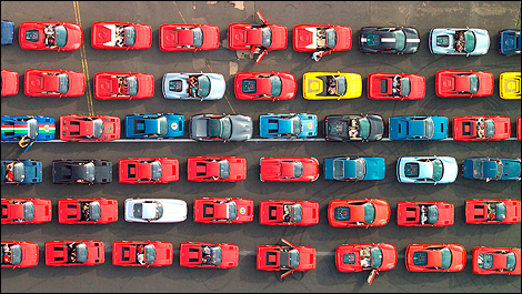 For the Guinness World Record – a 1,000 Ferraris on Parade