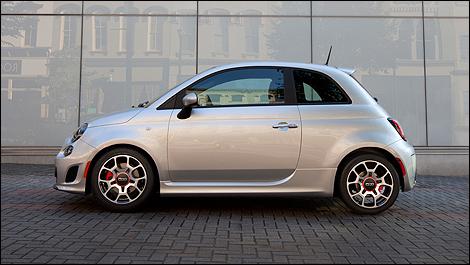 2013 Fiat 500 Turbo side view