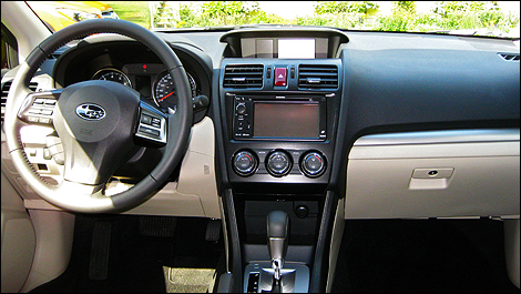 It is very much a Subaru inside, user-friendly and aesthetically