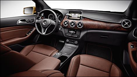 Mercedes b 250 au canada en novembre prix all chant for Mercedes b interieur