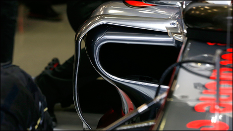 McLaren's new sidepods at Spa