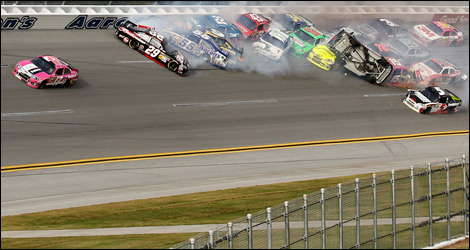 NASCAR Talladega crash 2012