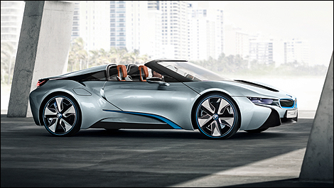 BMW i8 Concept Roadster side view