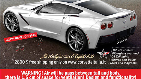 Corvette Stingray Naias on Round Taillights For Your 2014 Corvette   Car News   Auto123