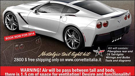 Corvette Stingray Naias on Round Taillights For Your 2014 Corvette   Car News   Auto123