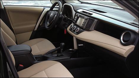 Latte Cloth Interior in the Toyota RAV4 2015