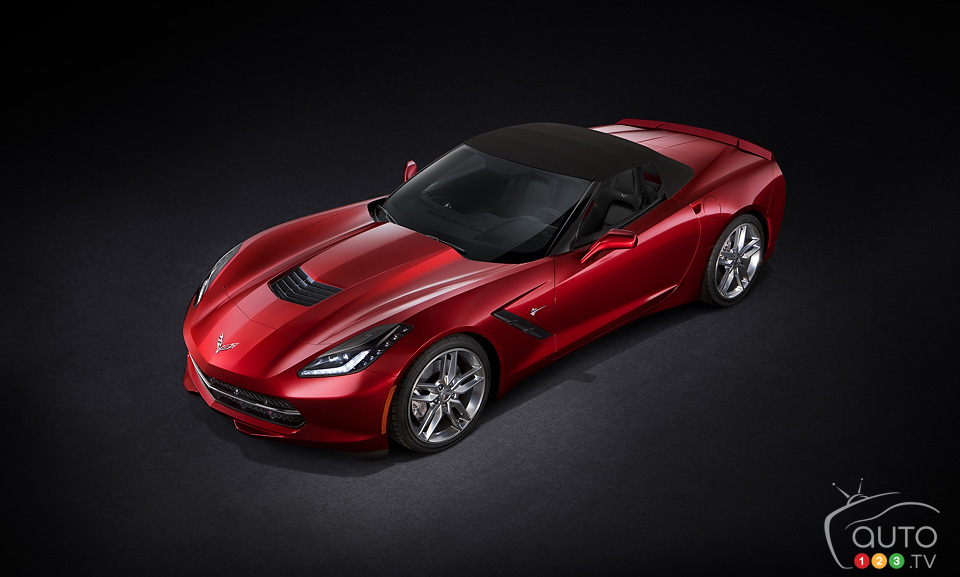 New Corvette Stingray Convertible on display in Geneva